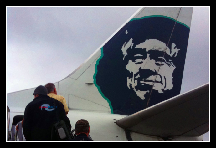 Boarding my Alaska Airlines flight in Juneau