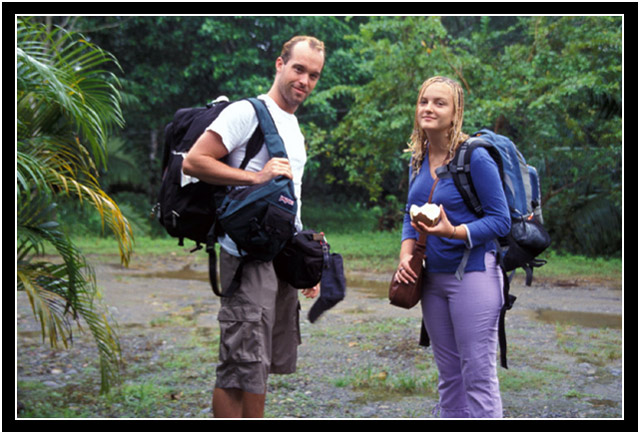 Arlo and Oksana on their first solo trip together, Costa Rica, 2003