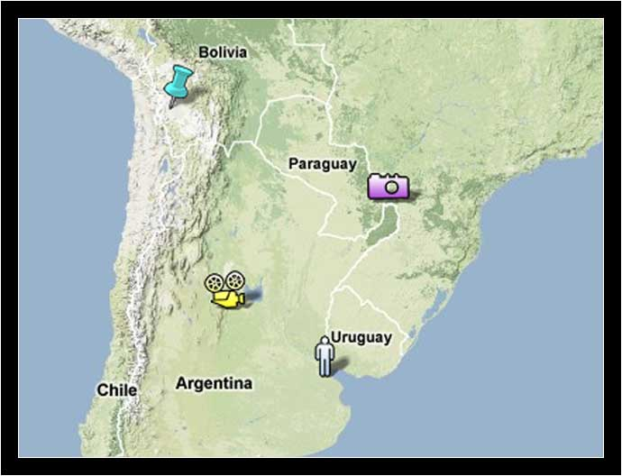 Points of Interest in South America