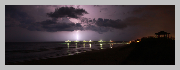 Lightning over the Nags Head Pier