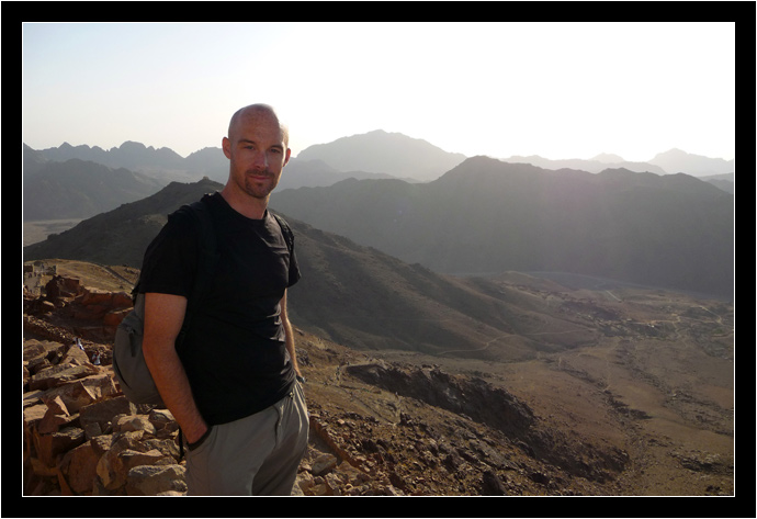 Hiking down Mt. Sinai